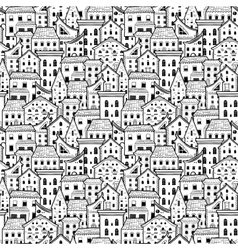 Houses Pattern Big Light vector image