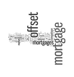 How to perform an offset mortgage comparison vector