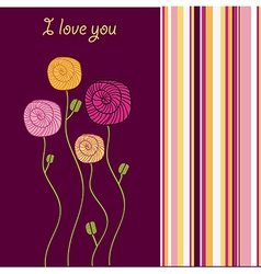 i love you - valentine card vector image