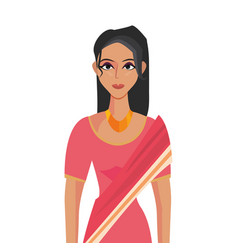 Indian woman in national costume clothes vector