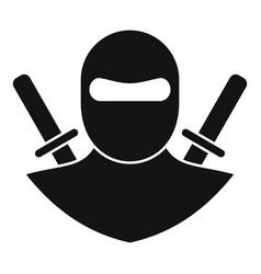 Karate ninja icon simple style vector