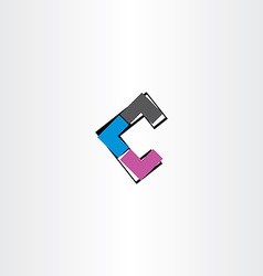 Letter c icon logotype abstract tech symbol vector