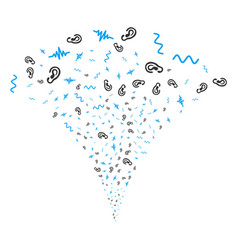 Listen signal fountain stream vector