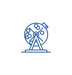 Lottery bingo cage line icon concept lottery vector