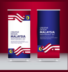 Malaysia independence day celebration creative vector