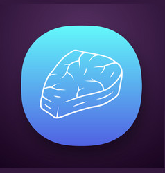 Meat steak app icon carnivore and high protein vector