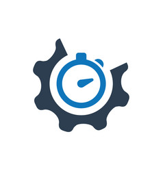 Meticulous design efficiency icon vector
