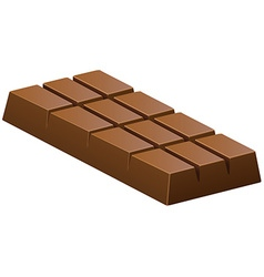 Milk chocolate bar on white vector
