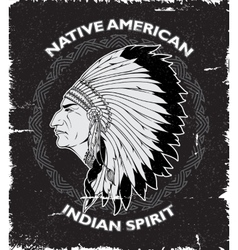 Native American Spirit Vintage Design vector