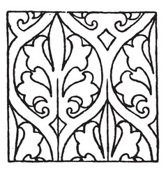 painting pattern is a 15th century design vintage vector image