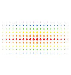 plant leaf spectrum halftone pattern vector image