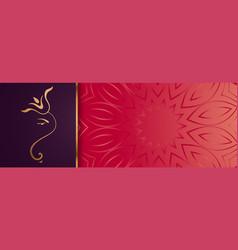 Premium golden lord ganesha design banner vector