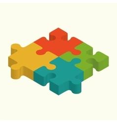 Puzzles 3d logo puzzle design puzzle vector