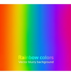 Rainbow blurred background vector