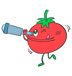 Red tomato character style vector
