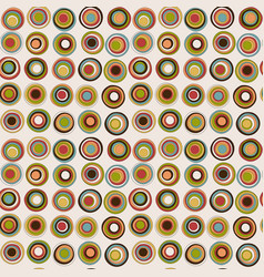 retro colorful seamless pattern with circles vector image
