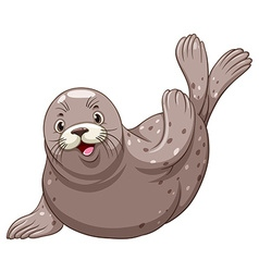 Seal with happy face vector
