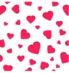 Seamless geometric pattern red heart valentine vector