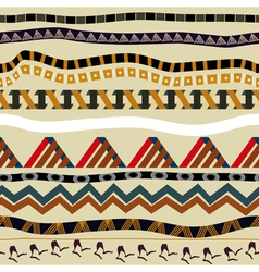 Seamless with ethnic patterns in tribal style vector image