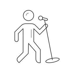 singer line icon vector image