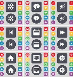 Snowflake Chat bubble Mute Media skip Camera vector