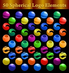 spherical logo elements vector image