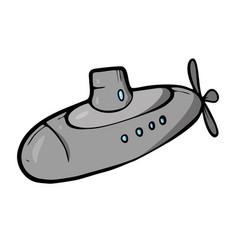 Submarine on white background cute cartoon vector