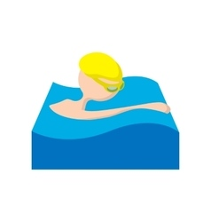 Swimmer cartoon icon vector image