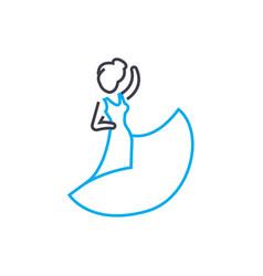 tango linear icon concept tango line sign vector image