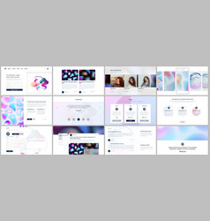 templates for website design minimal presentation vector image