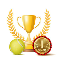 tennis achievement award sport banner vector image