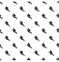 toothbrush pattern seamless vector image