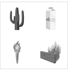 Travel building and other monochrome icon in vector