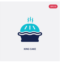 two color king cake icon from food concept vector image