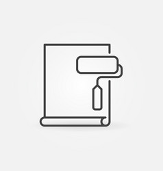 wallpaper with paint roller linear icon home vector image