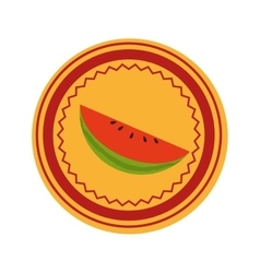 Watermelon fresh fruit icon vector