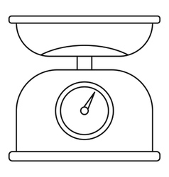 Weighing scales icon outline style vector image