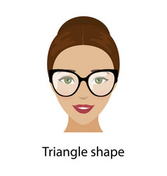 woman triangle face shape vector image