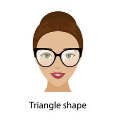 Woman triangle face shape vector