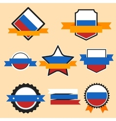 world flags series flag russia vector image