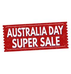 australia day super sale grunge rubber stamp vector image