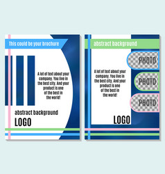 bright abstraction brochure on advertising with vector image vector image