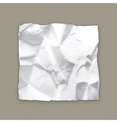 Crumpled paper vector image vector image