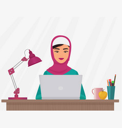 muslim business pretty woman in traditional vector image vector image