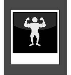 photo icon on gray background vector image vector image