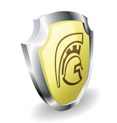 spartan helmet shield security concept vector image vector image
