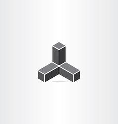 black buildings business icon design vector image
