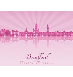 Bradford skyline in purple radiant orchid vector image