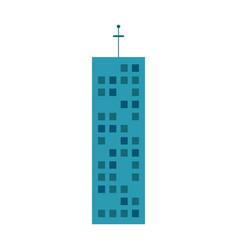building urban skyscraper antenna vector image