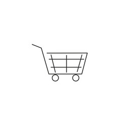 cart linear icon vector image